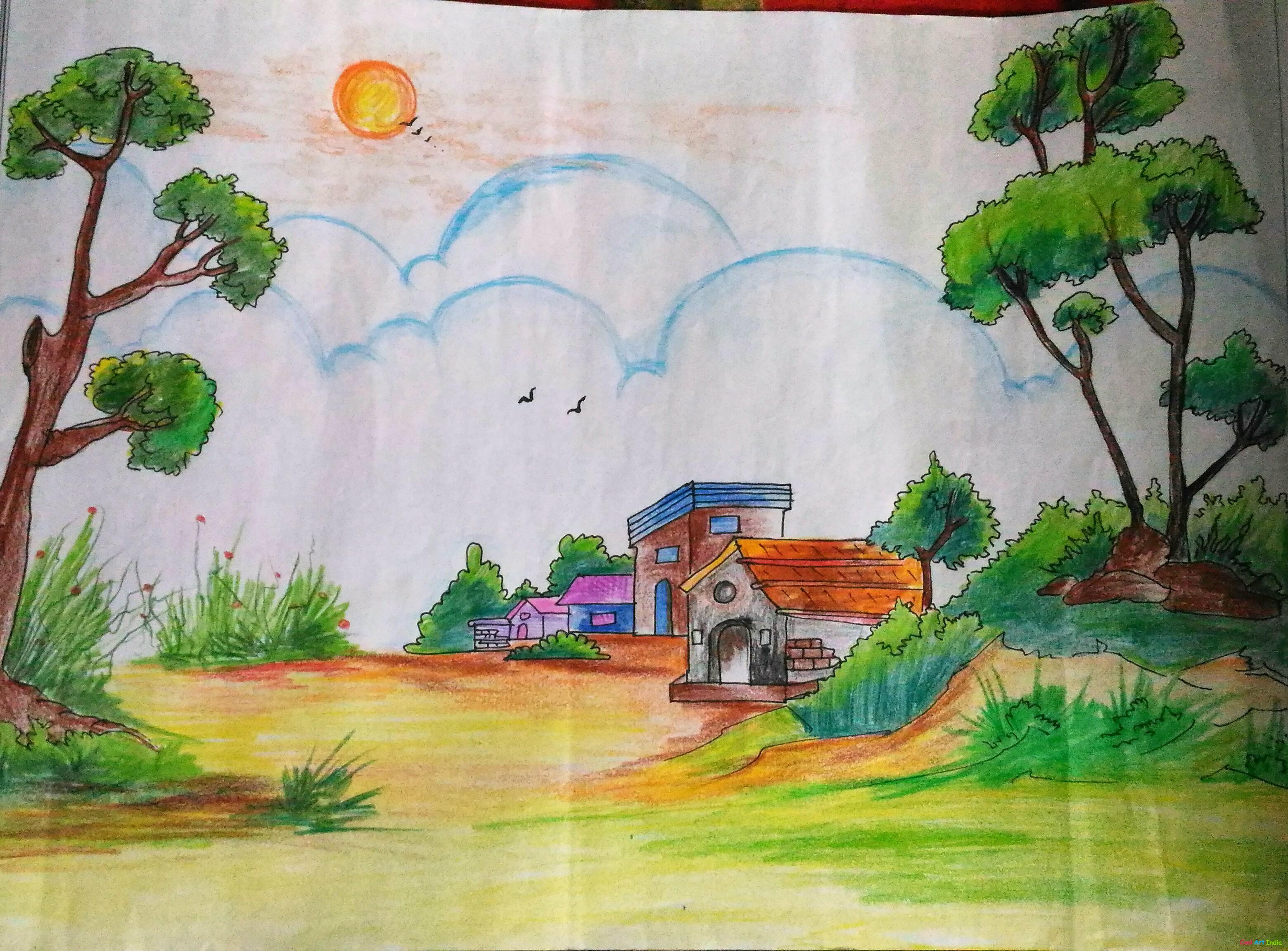 art natural scenery by ariba cool art india