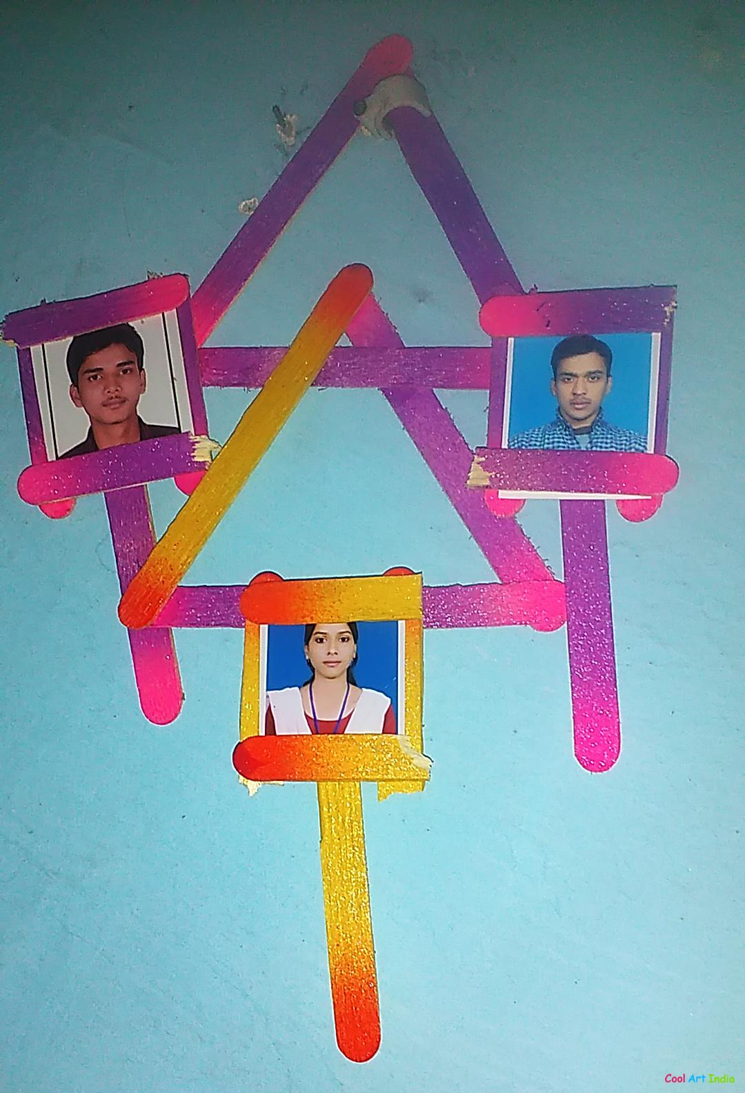 Art Craft Photo Frame Created By Mishu Suman Cool Art India