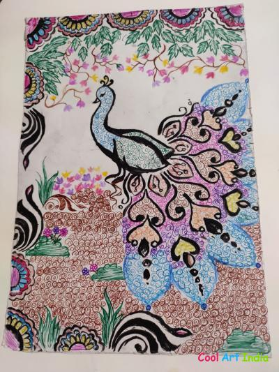 Peacock with Design