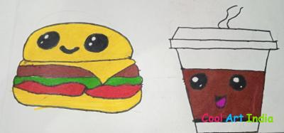 Burger and coffee