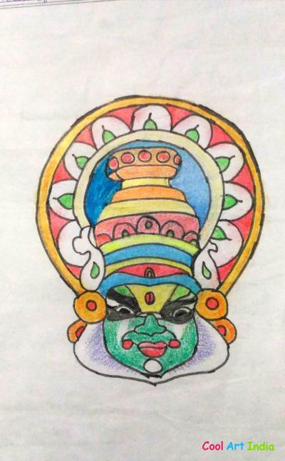 Mask of kathakali dance