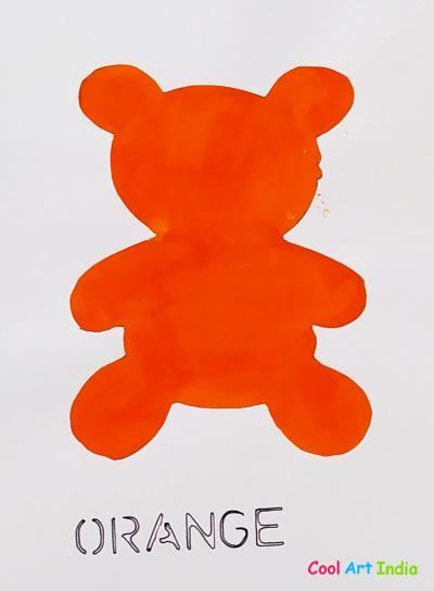 Teddy Bear in Orange