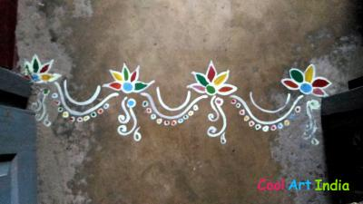 Floor Gate Rangoli