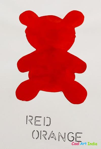 Teddy Bear in Red Orange