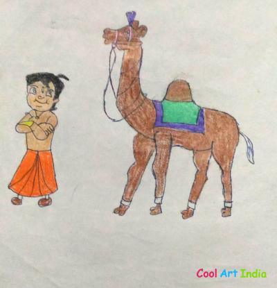 chota bheem and camel