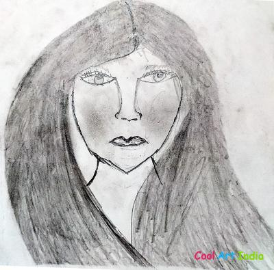 Lady Face Drawing
